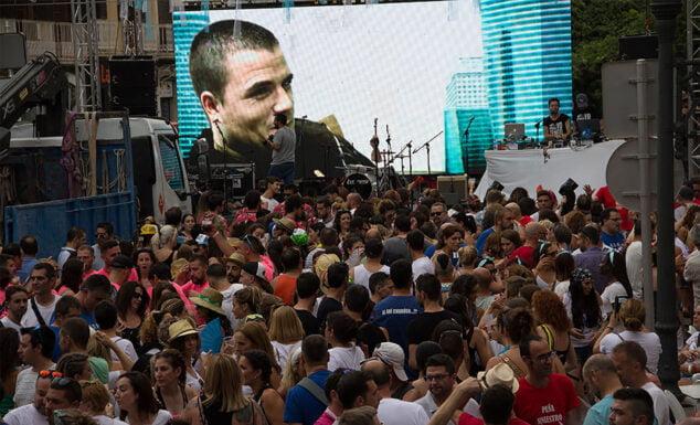 Imagen: Discomovil en Marqués de Campo durante las Fiestas 2019