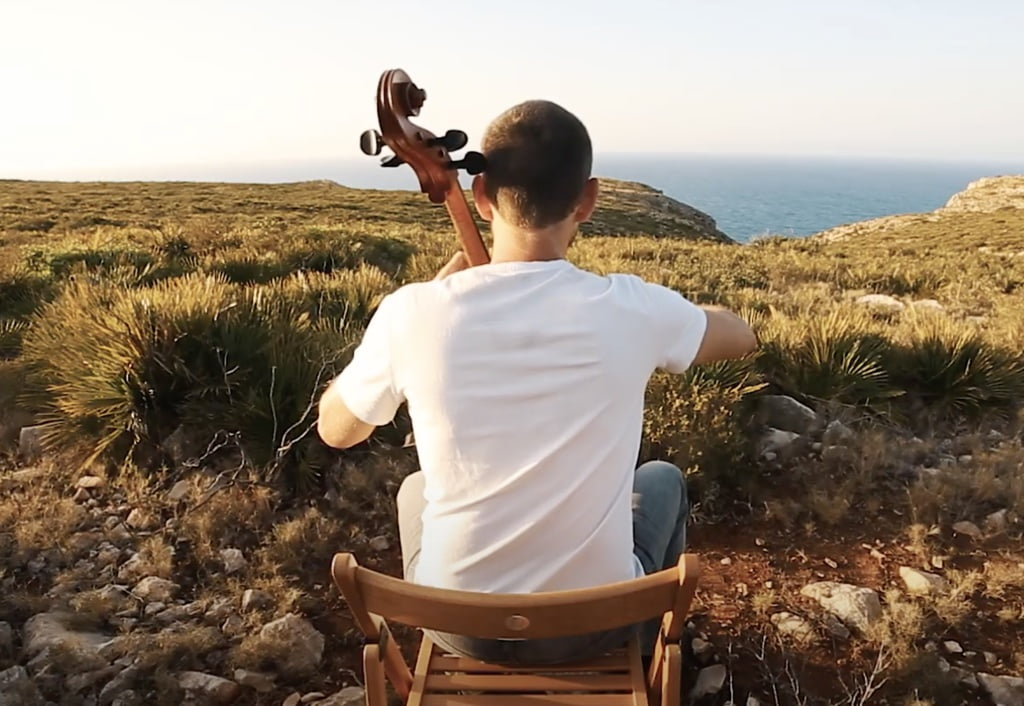 Escena del teaser «El camino de los vientos» de Matthieu Saglio
