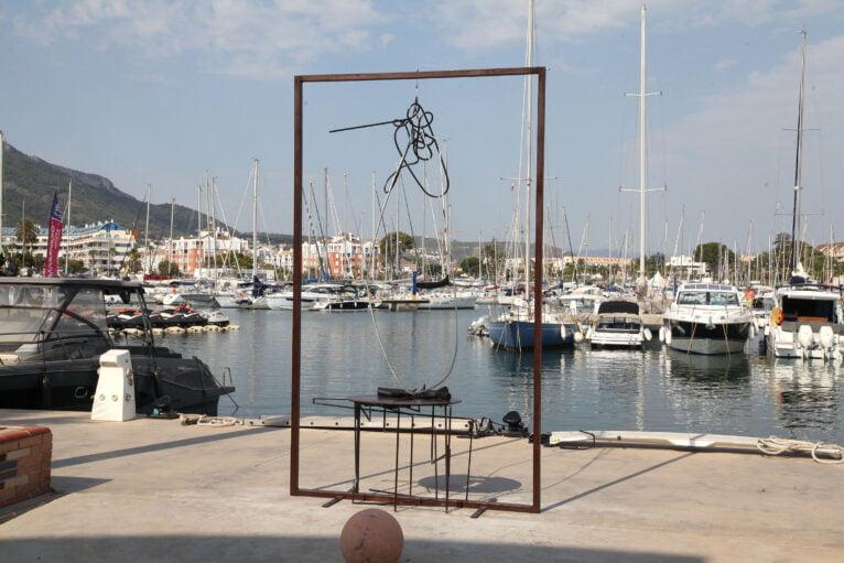 Esculturas frente al Mar en Marina de Dénia