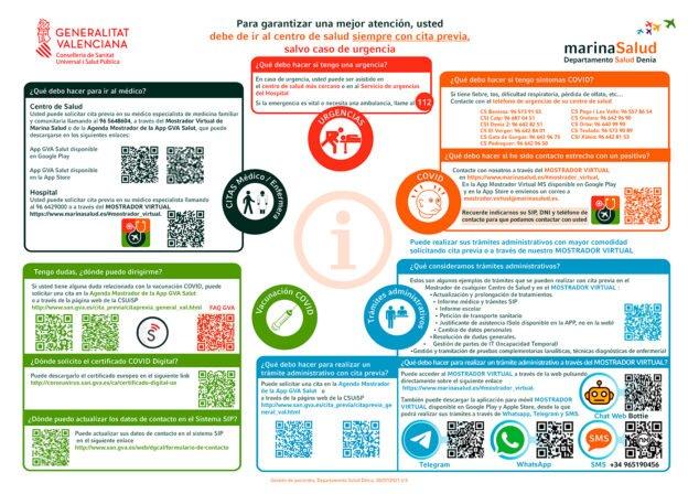 Imagen: Guía 'Qué debo hacer si...' del Departamento de Salud de Dénia