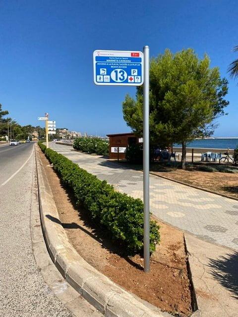 Nueva señalética en los accesos de las playas de Dénia