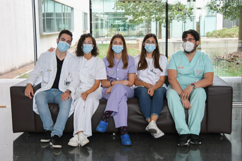 Residentes de Pediatría en el Hospital de Dénia
