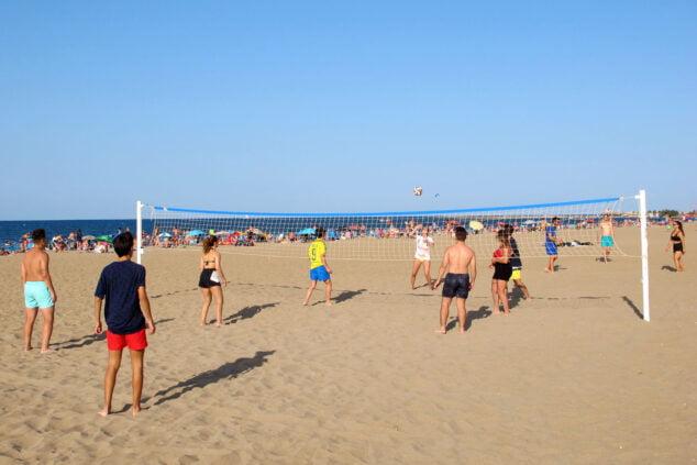Imagen: Red de volley playa en Punta del Raset