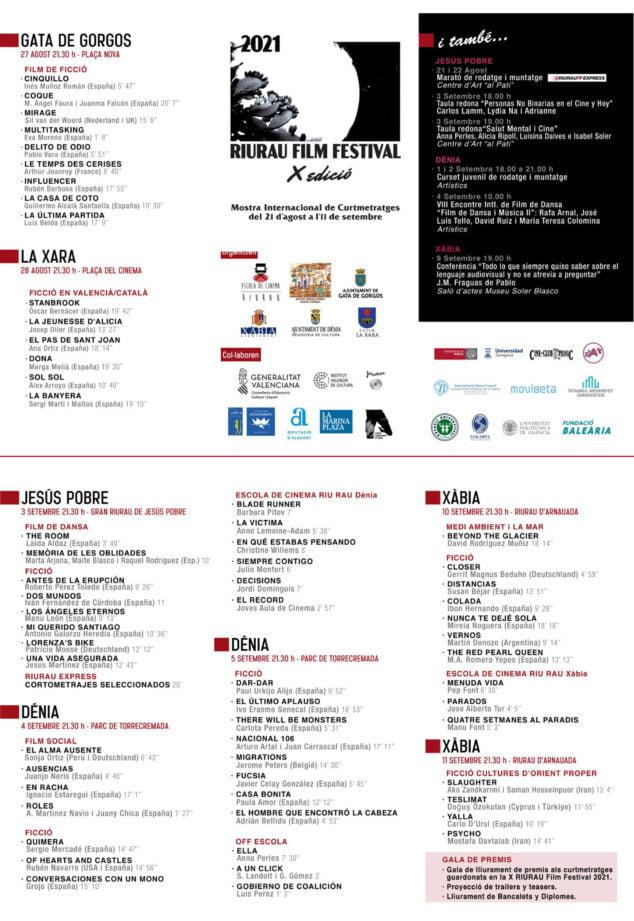 Imagen: Riurau Film Festival Programación
