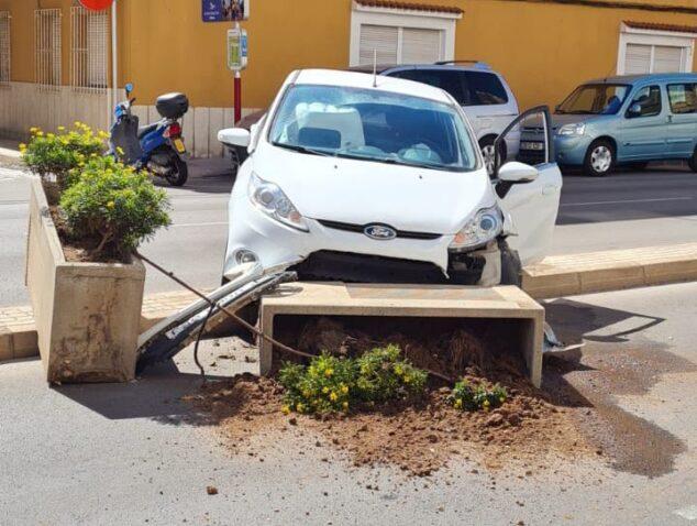 Imagen: Accidente en la Avenida Alicante Dénia