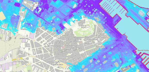 Imagen: Barrios del casco urbano que sufrirían las inundaciones