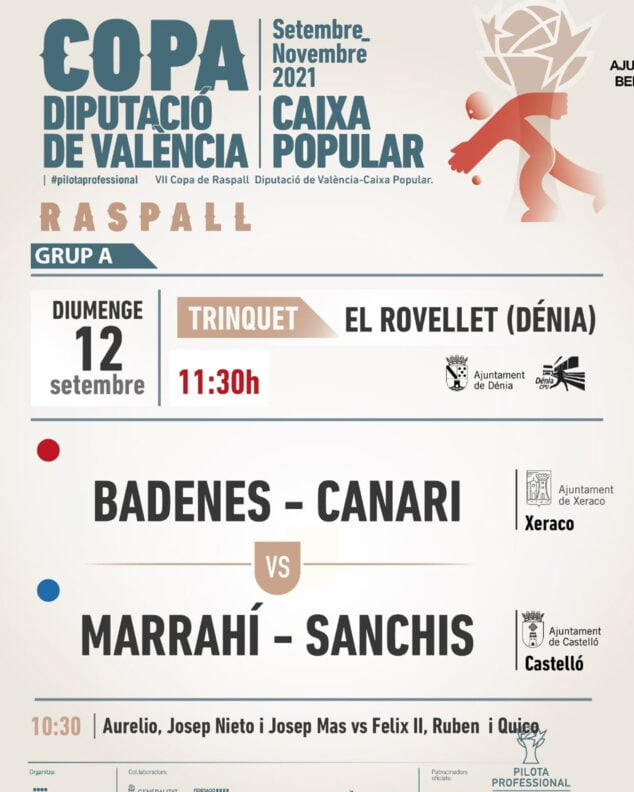 Imagen: Cartel VII Copa de Raspall Diputación de València-Caixa Popular