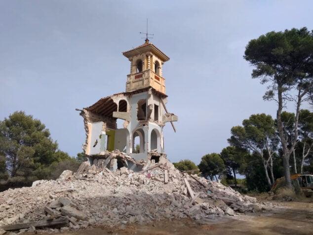 Imagen: Esqueleto de lo que en su día fue la casa de los Chermes