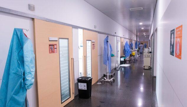 Imagen: Pasillo COVID del Hospital de Dénia