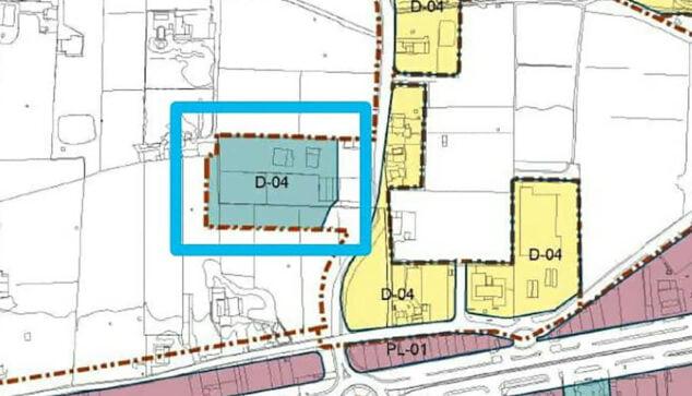 Imagen: Plano de la ubicación elegida para el nuevo centro del Raquel Payá