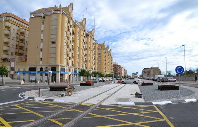 Imagen: Rotonda de la avenida Joan Fuster, por donde circulará el tranvía