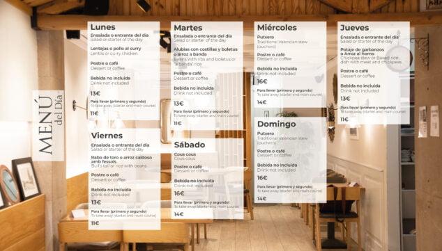 Imagen: Menús diarios en Tasca Eulalia, Dénia