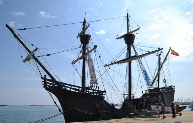 Imagen: Nao Victoria en una visita al puerto de Dénia